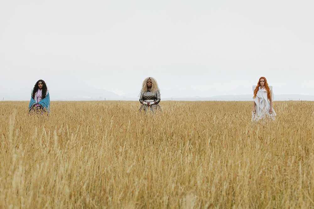 (L-R): Mindy Kaling, Oprah Winfrey, and Reese Witherspoon in A WRINKLE IN TIME | Photo Courtesy of Disney Enterprises | Photo Credit: Atsushi Nishijima
