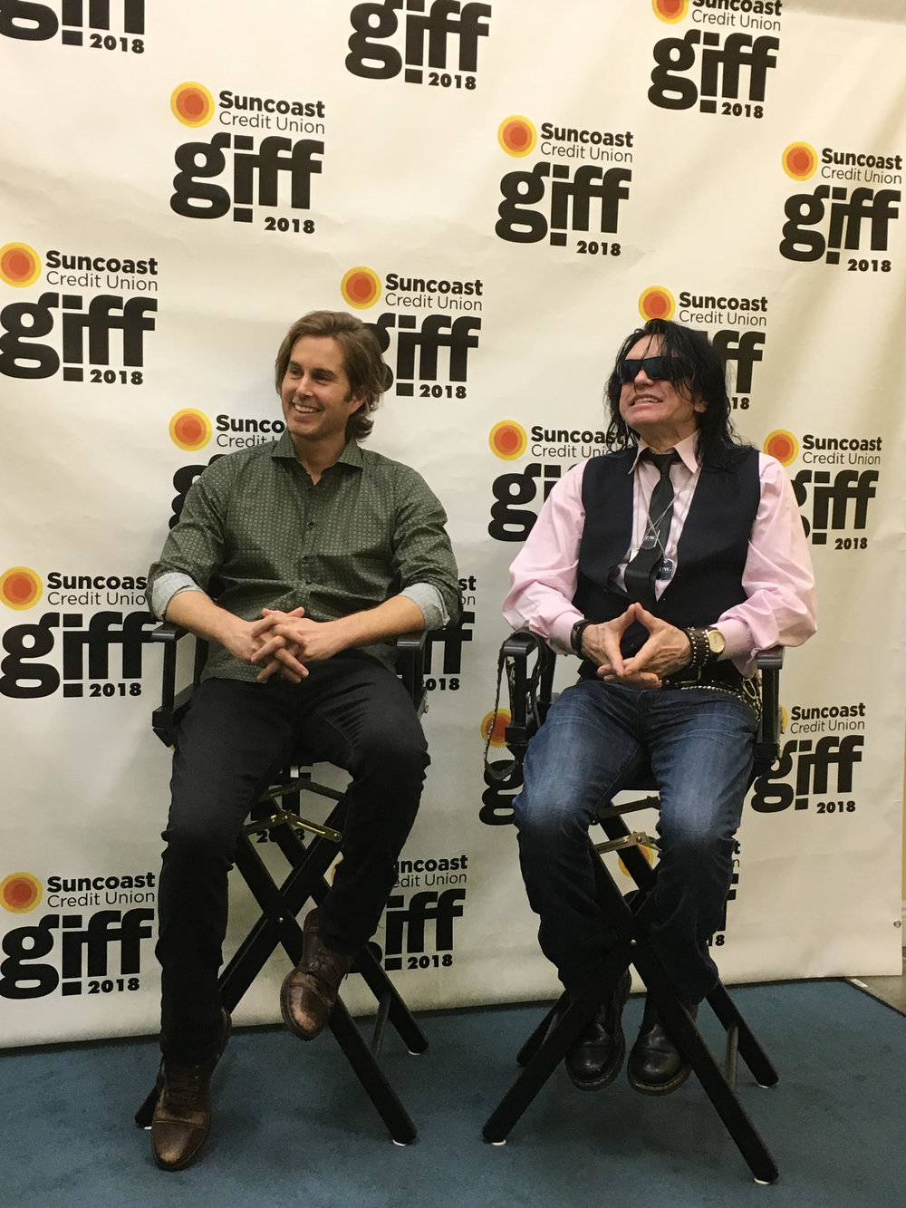 (L-R): Greg Sestero and Tommy Wiseau at the Gasparilla International Film Festival