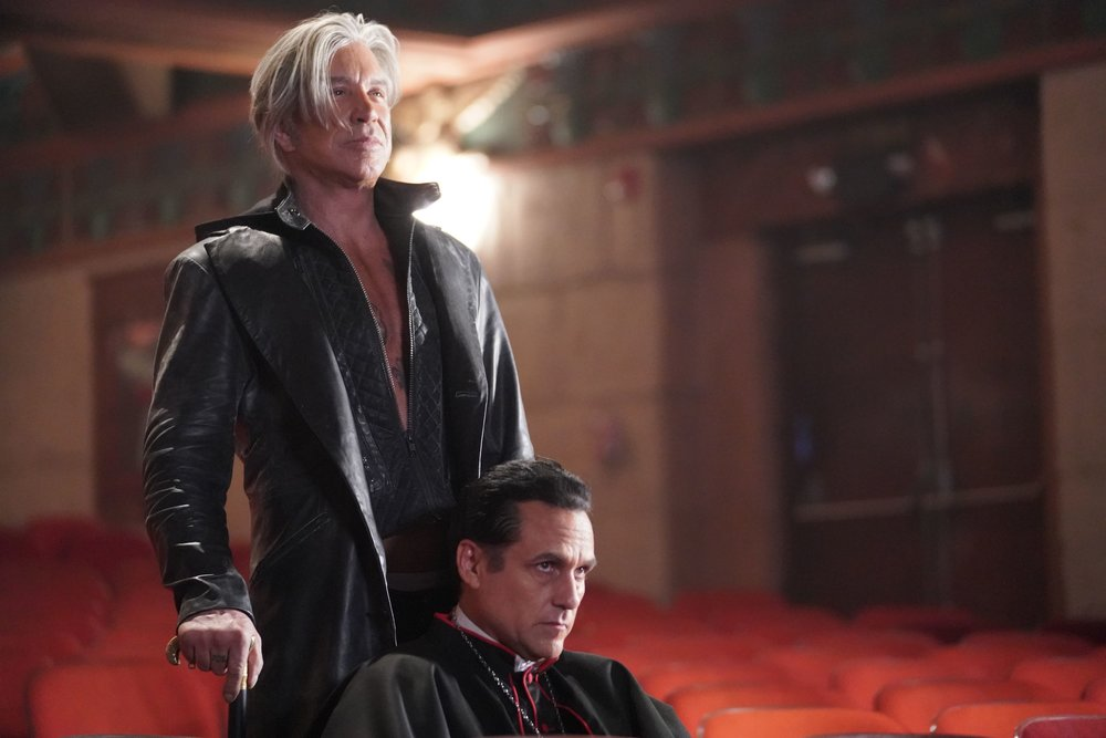 Mickey Rourke and Maurice Benard in NIGHTMARE CINEMA