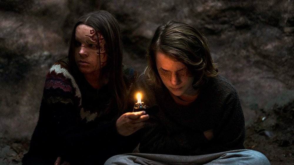 Nadia Alexander and Toby Nichols in  THE DARK
