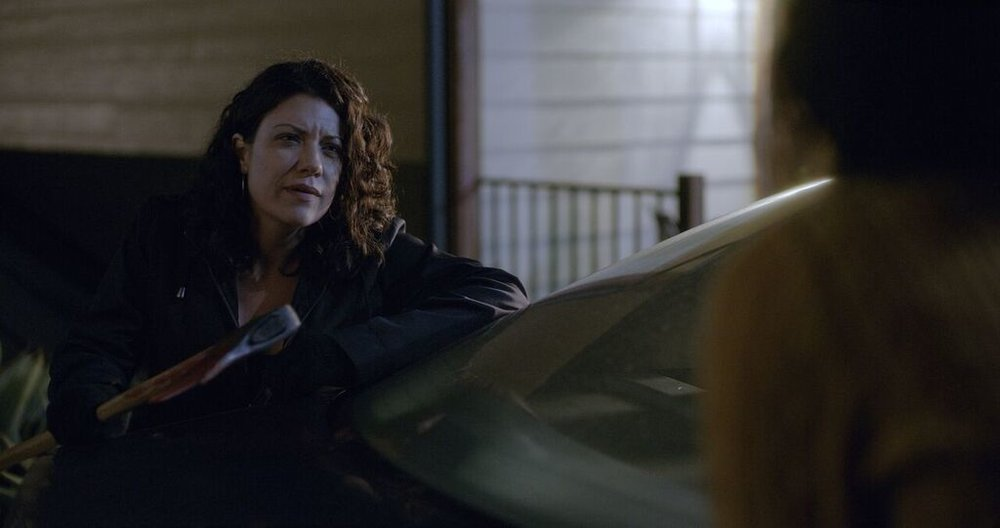 Tiffany Shepis as Christine in the horror film KILLER KATE!, a Freestyle Digital Media Release. Photo courtesy of Freestyle Digital Media.
