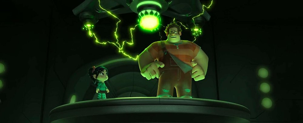 John C. Reilly as Ralph and Sarah Silverman as Vanellope in RALPH BREAKS THE INTERNET