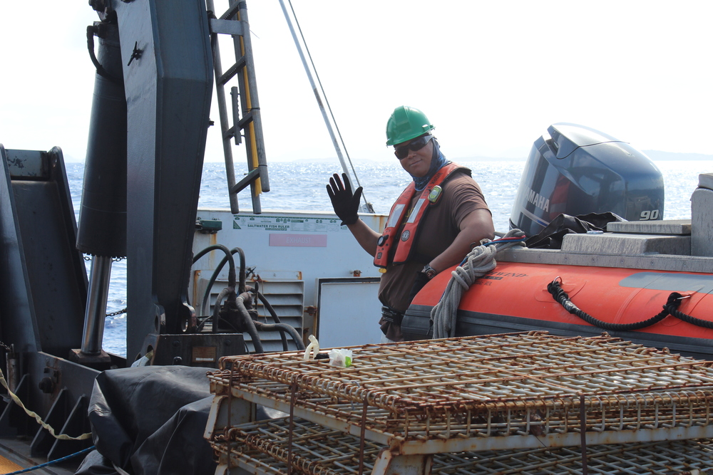 Dr. Habtes partners with the National Oceanic and Atmospheric Administration (NOAA) National Marine Fisheries Service (NMFS) FORCES lab and AOML aboard the NOAA research vessel (R/V) Nancy Foster (R352).