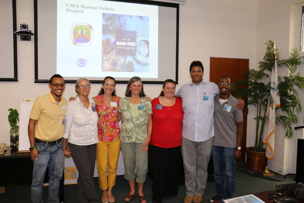 The Marine Debris Teachers Education Workshop brought together individuals from UVI and Oregon Sea Grant.