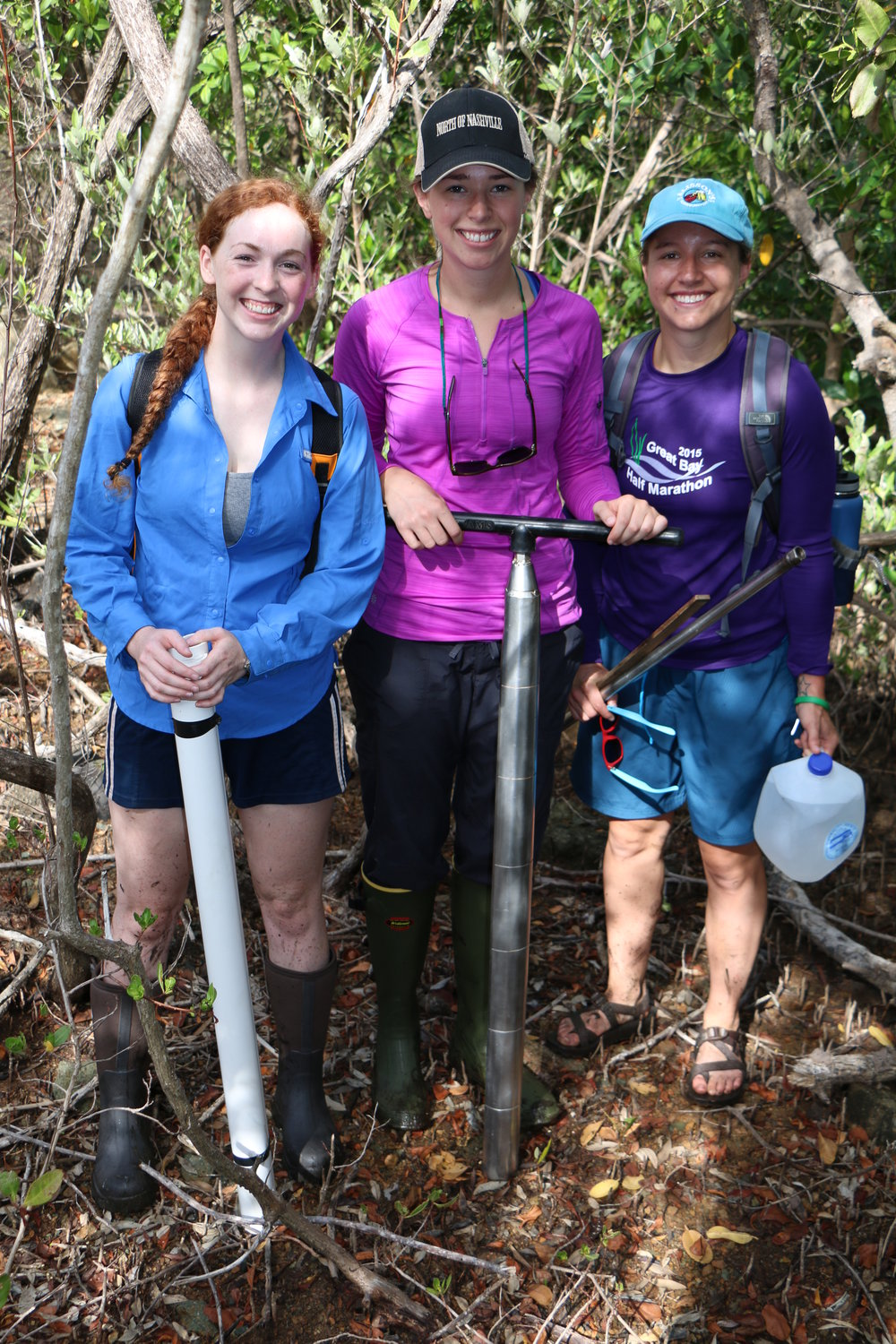 Amelie, center, is seen here with fellow researchers Allie Durdall and Sydney Nick.