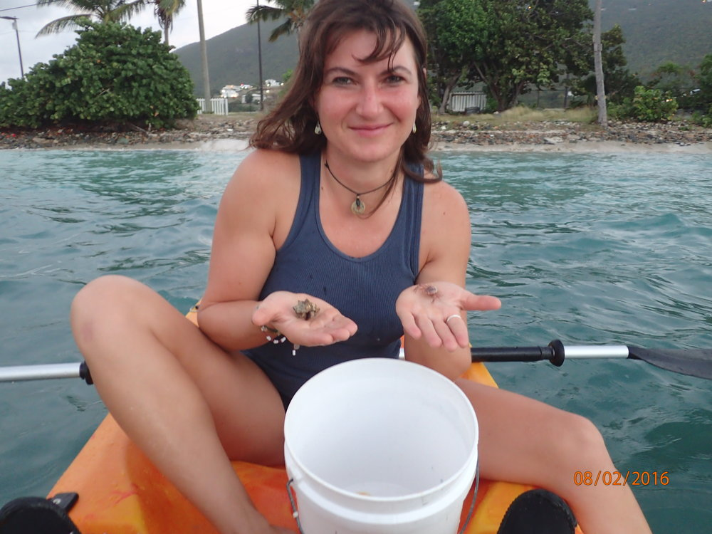 Cohort Elizabeth Brown is seen here in Lindbergh Bay, St. Thomas