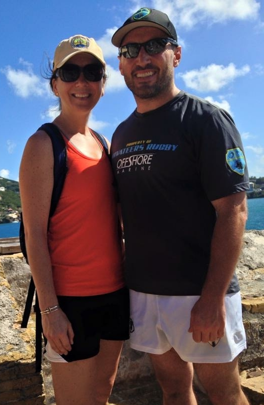Dr. Kristin Wilson Grimes pictured with her husband Mark.