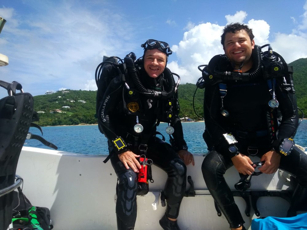 Smith and Brandtneris achieved the deepest open ocean diving certification available.