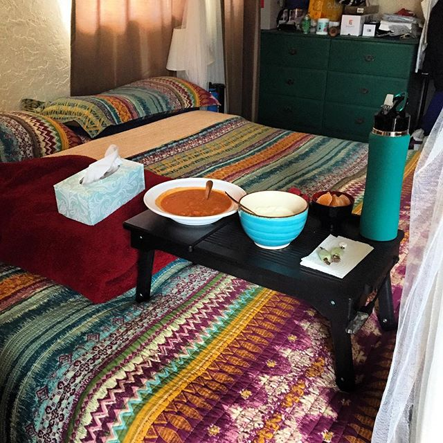 """Look at this gorgeous set up my fiancé laid out for me after a birth the other day!! Being a midwife is like anything else in life in that it has its ups and downs. For the most part, I love being a midwife, I love serving women, I love offering good holistic care, I love meeting and serving and becoming friends with all of these wonderful women and their families.  I feel honored to be a part of this miraculous work. All this considered, this work can also be very challenging, physically, emotionally, and spiritually. However, having a good support team in my life has really made all the difference in the world. I got home from a night at a birth and took a long day-time nap. When I got up I took a bath, then stepped out into the room to this... my sweet fiancé knows exactly what it means to """"doula the midwife."""" Thanks love 🙏"""