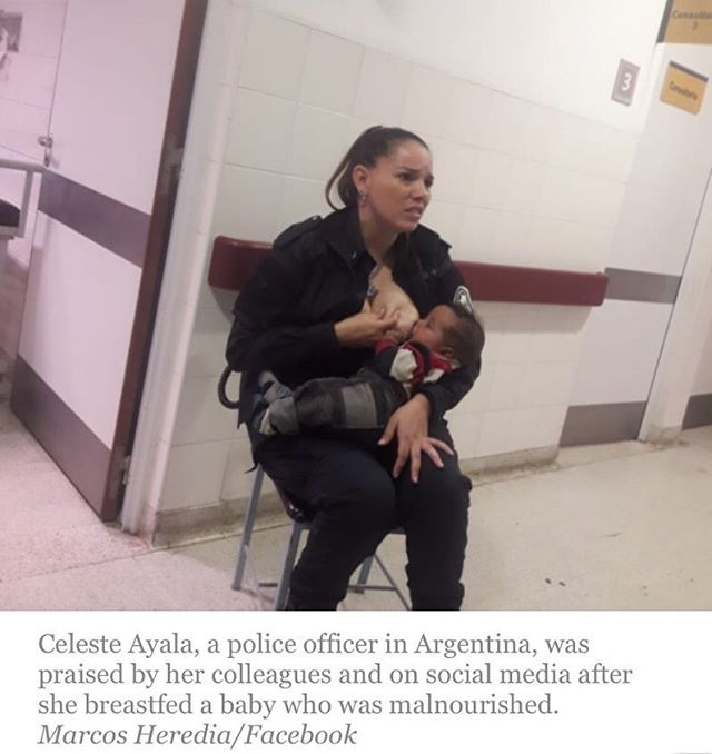 Love this awesome woman, cop and mother ❤️🤱❤️ a @cbsnews report.  REPOST: from @empoweredbirthproject
