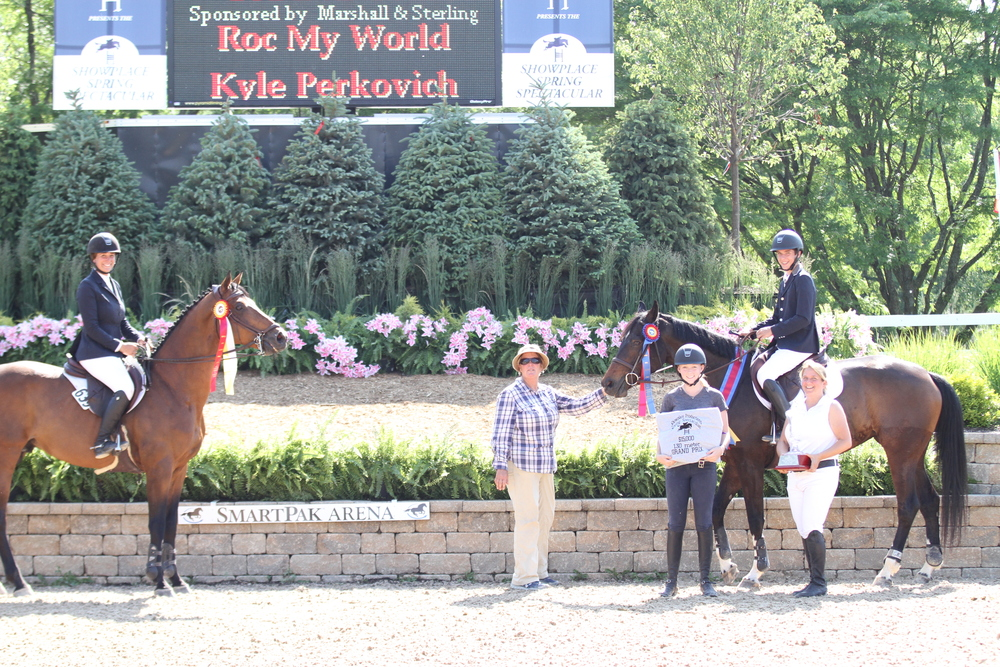 Lisa Goldman aboard Sovereign owned by Barbara Disko were second, Mary Goldman, Kyle Perkovich with Roc My World and his mother, Brenda Perkivich. Photo by Andrew Ryback Photography