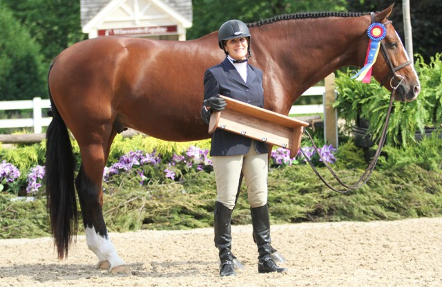"$1000 Amateur Adult Hunter 50 & Over Champion    Gameplan owned and ridden by Beth Bailey   ""He's awesome. He's super brave, he'll jump anything,"" said Bailey, who credits ""Cooper's"" success to trainer Lynn Jayne and rider Kara Raposa. ""He'll look for the jumps, he's always ready to go and he has a lot of scope. I'm lucky to have him, my 'Super Duper Cooper'."""