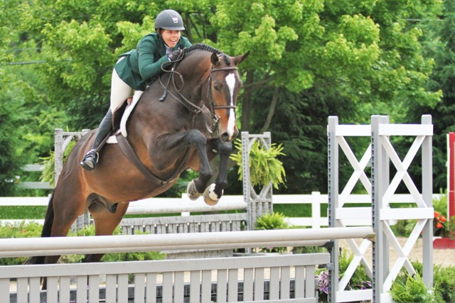$1000 Amateur Adult Hunter 18-35    Diamant d'Heure ABF owned by AliBoo Farm, Inc. and ridden by Alison Flury