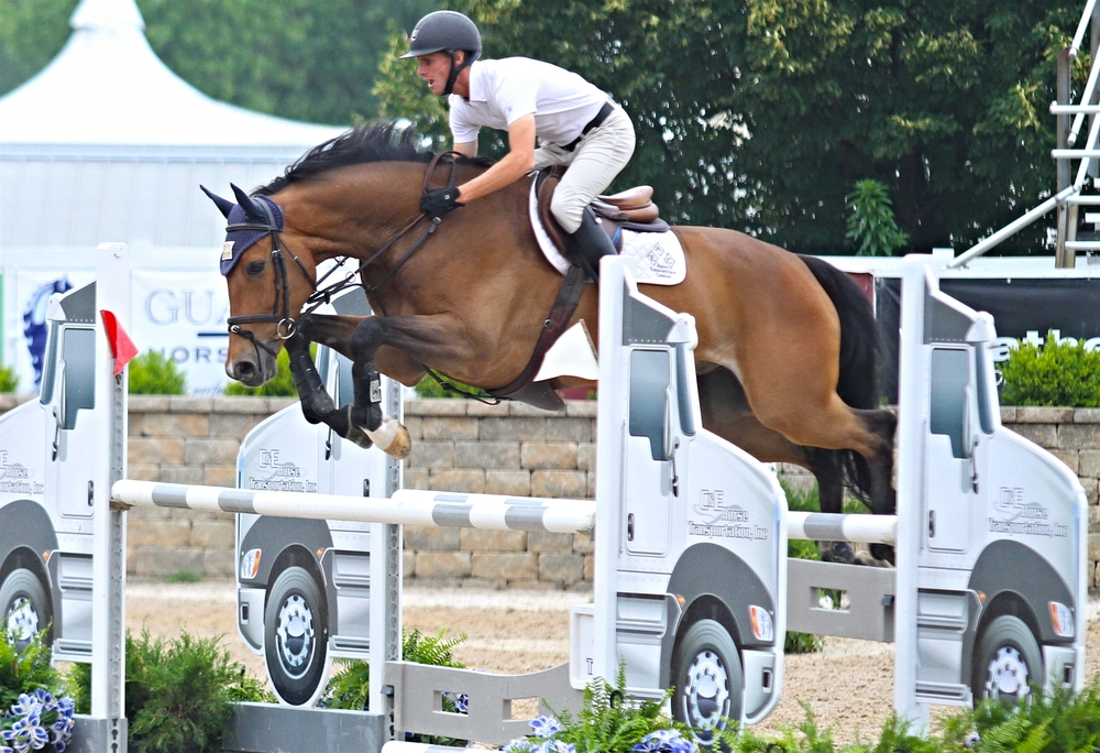 Kyle Timm and Vaissac, owned by Apex Equestrian, won the class and were reserve champions of the division. $1,000 Young Jumper 7 Year Old Championship, sponsored by HorseFlight