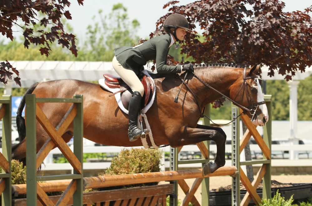 Washington Equitation Overall  Giavanna Rinaldi and Fendi, owned by Deborah Ball, completed the jumper and hunter phases to win the overall.