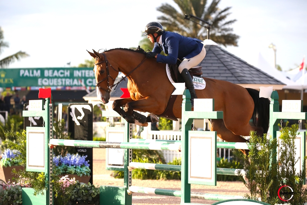 Freddie Vazquez and Bachelor 4 competing this spring at the Winter Equestrian Festival. Photo by SportFot