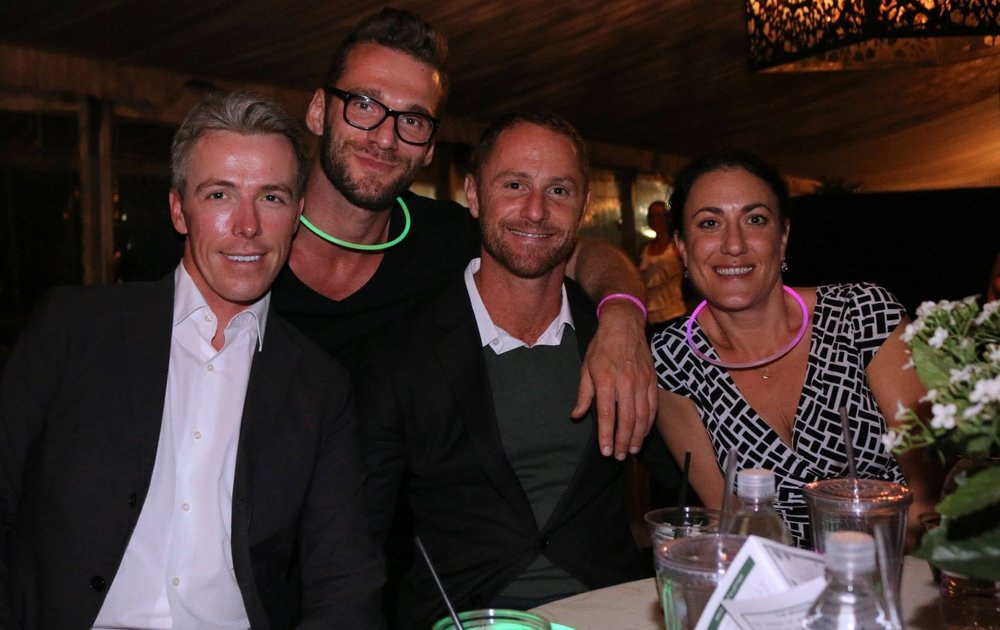 Paul Butterworth, Jeffim Kuznetsov, Shai Tertner and Christina Waters enjoying an Equestrian Aid Foundation event. Photo by Julie Unger