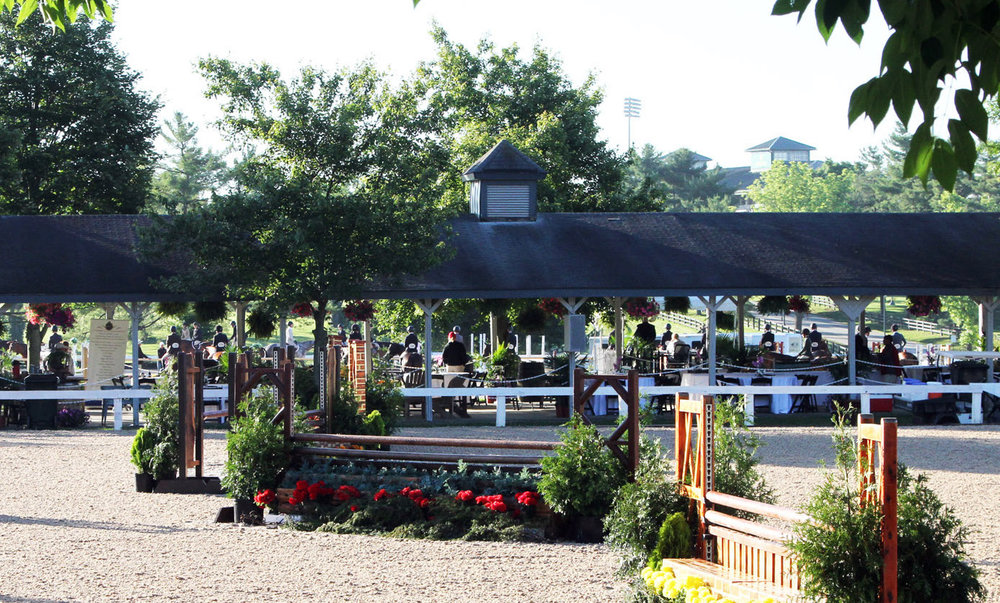 The hospitality pavilion at Country Heir I & II. Photo by Anne Gittens.