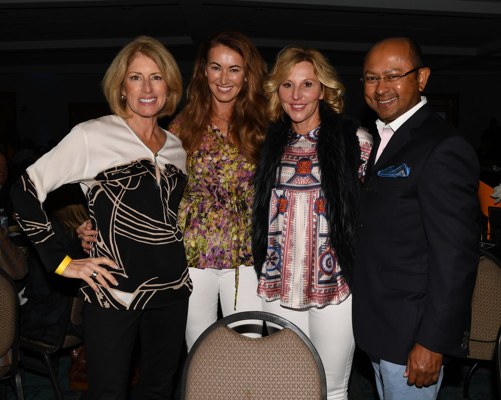 AEGT Week V judges included WPTV's Roxanne Stein, AEGT Honorary Chair P.J. Rizvi and Susie and Tim Dutta. DDeRosa photo.