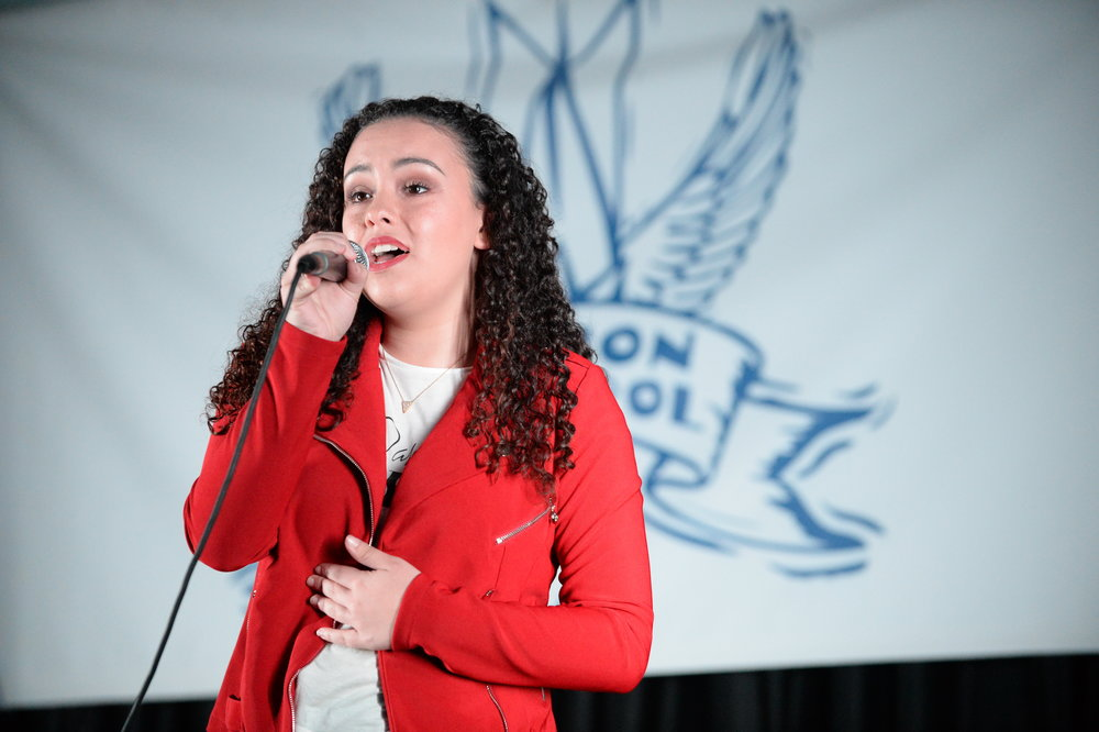 Cassie Ortiz wowed the crowd with her huge voice. DDeRosa photo.
