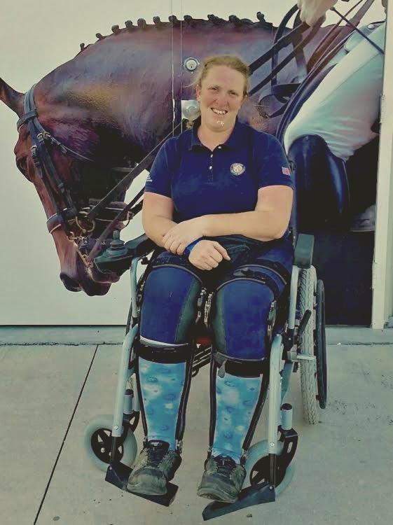 Equestrian Aid Foundation recipient Laurietta Oakleaf. Photo courtesy of Laurietta Oakleaf.