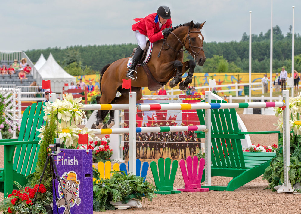 Freddie Vazquez and 2015 Esprit De Vie at the Pan Am Games in Toronto.    Photo by Cealy Tetley.