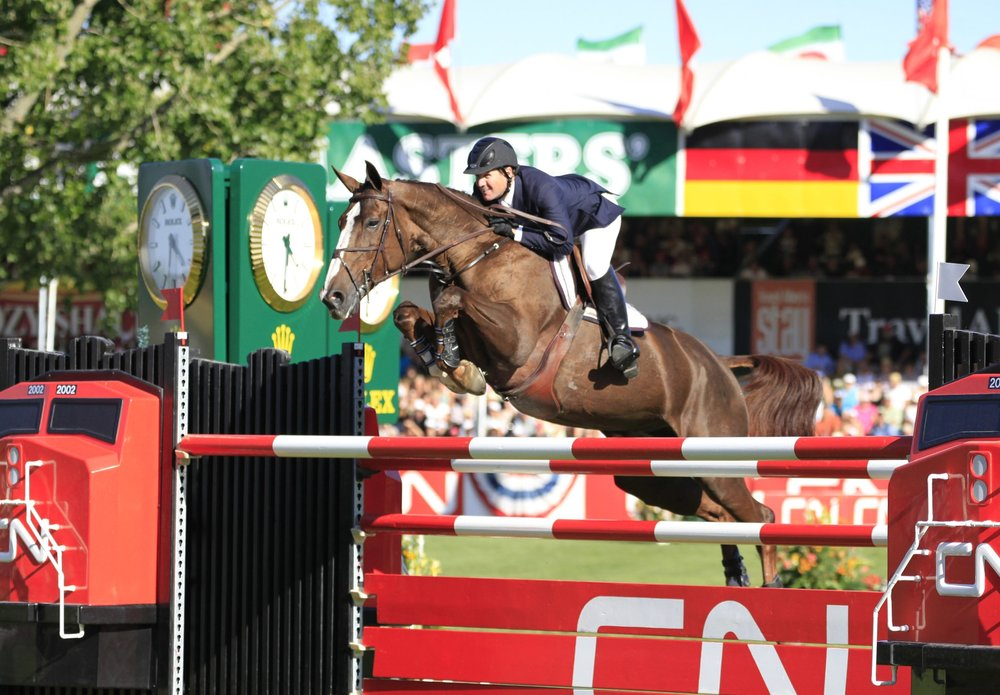 McLain Ward and the late, great Sapphire won the 2009 CN $1 Million at Spruce Meadows. Photo by Bob Langrish