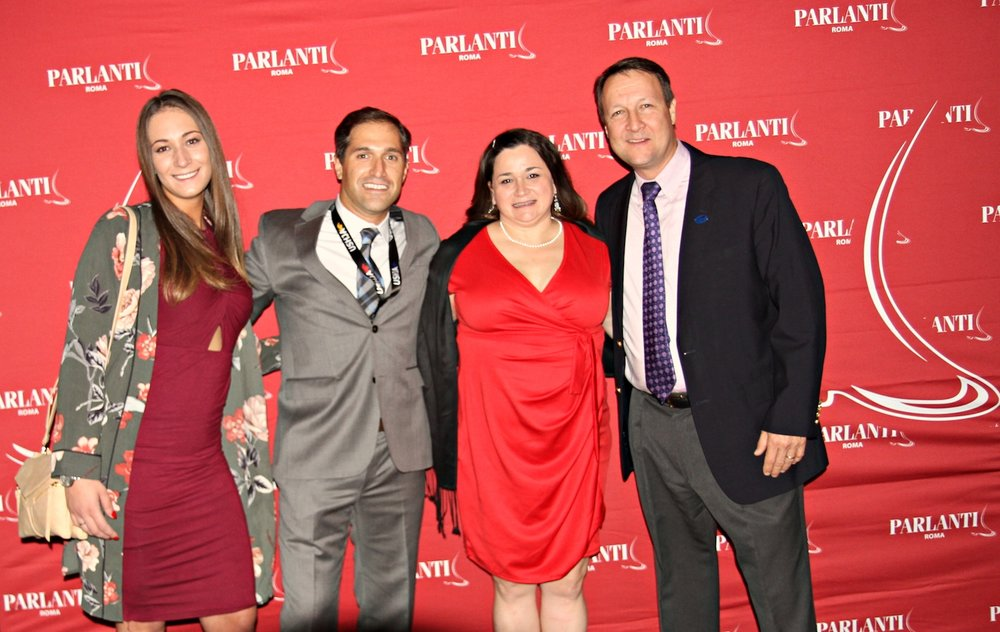 Coury Saker and Joe Costa from Parlanti International with Whitney Allen and Kevin Price from USHJA at the Parlanti-sponsored party at the USHJA annual meeting in San Antonio. Photo by EQ Media
