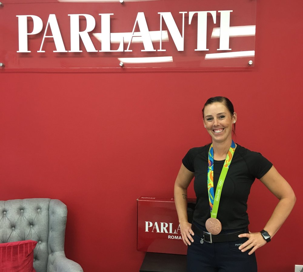 Kasey Perry-Glass at the Parlanti Internatioanl headquarters in Wellington.
