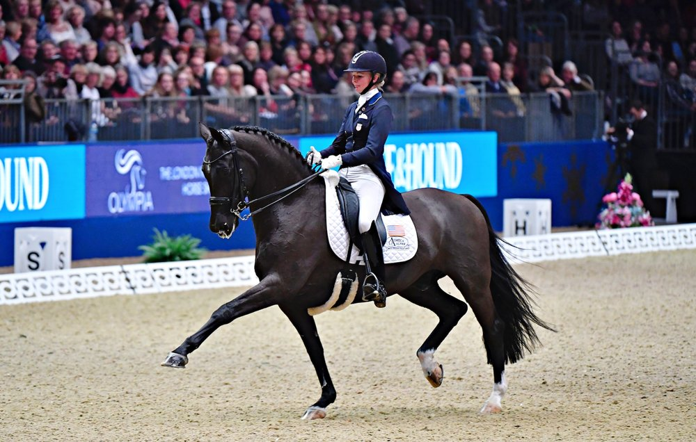 Katherne Bateson-Chandler and Alcazar at Olympia. Photo by Kit Houghton Photography
