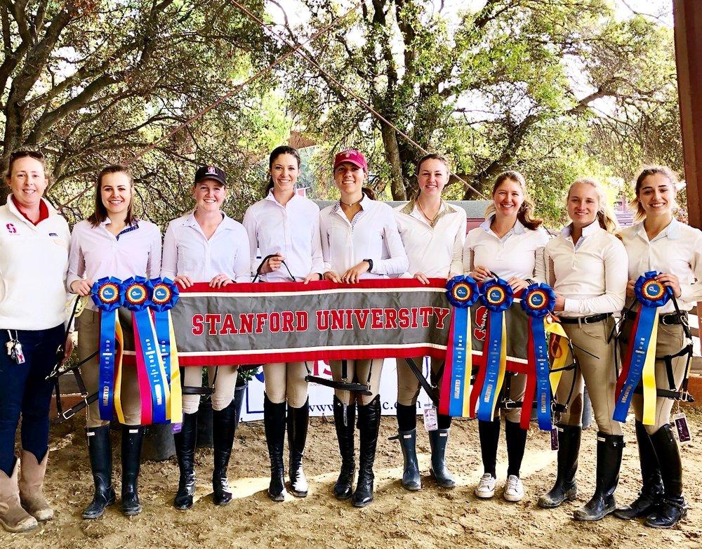 Stanford University Equestrian Team won the Zone 8 championship. Photo courtesy of Stanford University