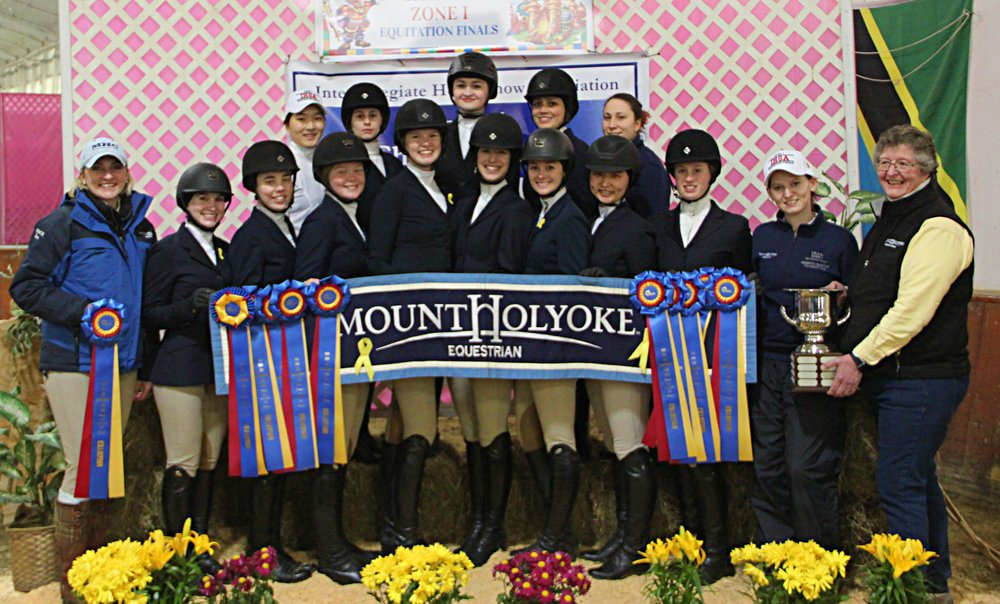 The Mount Holyoke team won the Zone 1 championship by one point. Photo by Carol Law