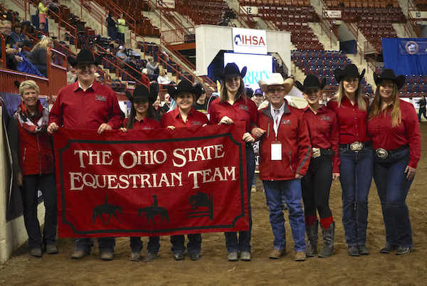 Ohio State University, led by the Griffith family was the reserve champion AQHA Team. Photo by Lisa Giris