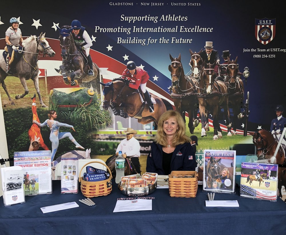 Stop by the USET Foundation booth at Monmouth at the Team and visit with Maureen Pethick, communications and facilities coordinator, to learn all about our equestrian athletes. Photo by EQ Media