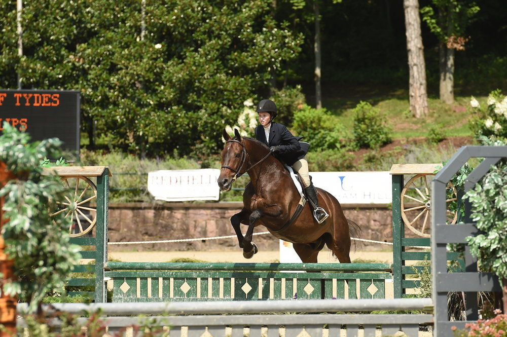 Rachel Phillips and Prince of Tydes took the top spot in the Bit O'Straw Classic. Photo by Anne Gittins Photography