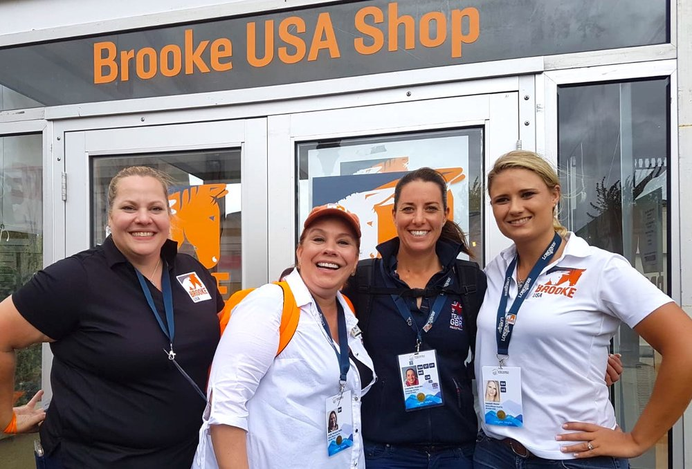 Amanda Miller, Brooke USA major gifts officer, Emily Dulin, Brooke USA executive director, Brooke Global Ambassador Charlotte Dujardin and Kendall Bierer, donor relations officer. Photo by EQ Media