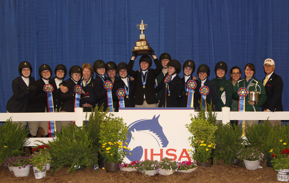 The Skidmore College team won the USEF/ Collegiate Cup at the National Championship Horse Show in Harrisburg. Photo by AlCookPhoto.com