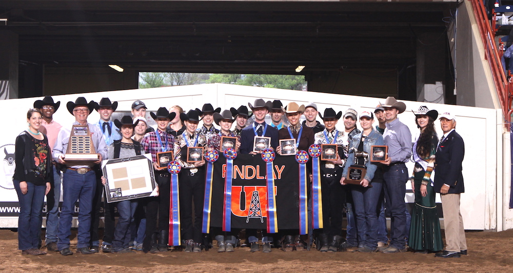 The 2018 IHSA Western National Champions, the University of Findlay team. Photo by AlCookPhoto.com