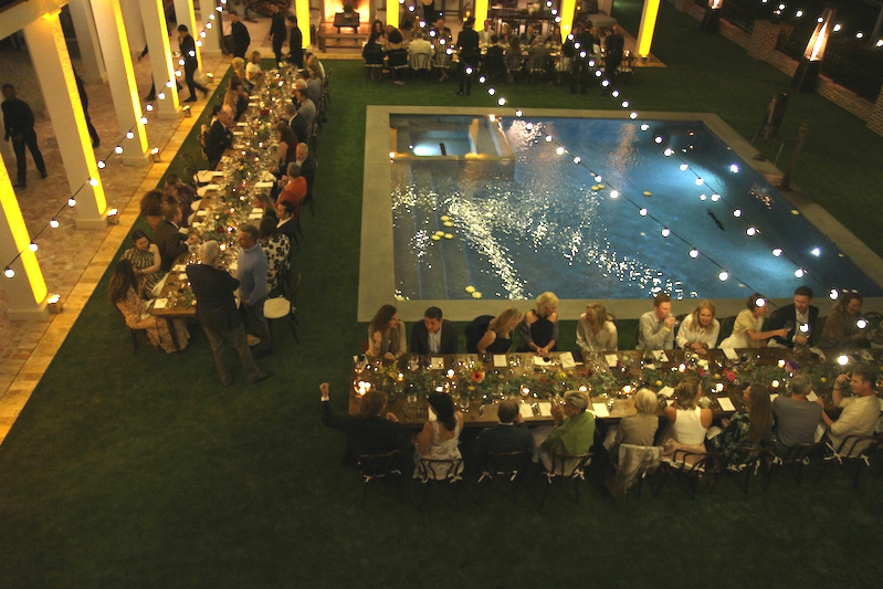 The courtyard of the Stewart/Berkley residence was a stunning setting for the event. Photo by EQ Media