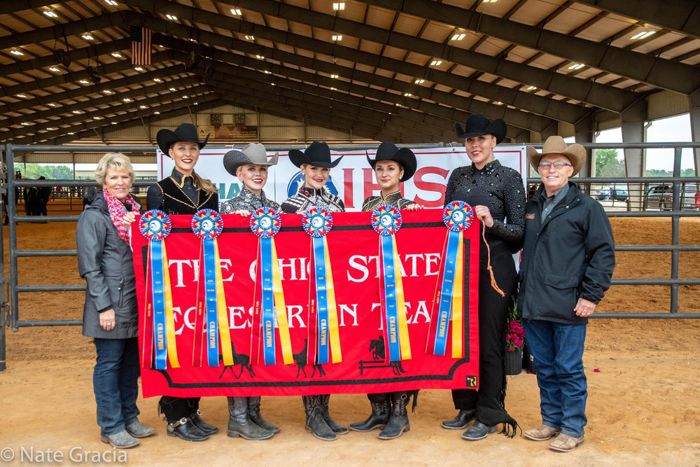 The Ohio State University, led by Debbie and Ollie Griffith, won the team competition at the Semi-Finals hosted by Florida State University.  Photo by Nate Garcia