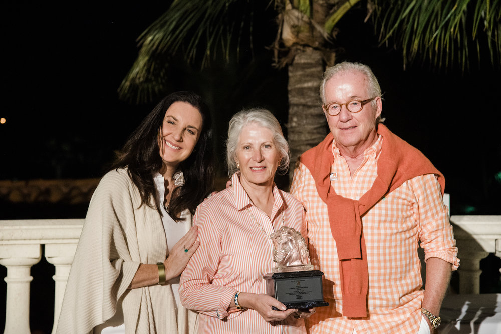 Dolores Sukhdeo, the President and CEO of South Florida PBS (WPBT2 and WXEL), presented the inaugural Crystal Awards to Claudine and Fritz Kundrun, Margaret Hamilton Duprey and Katherine Kaneb Bellissimo