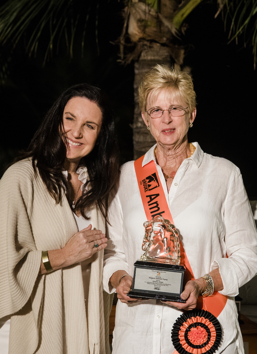 Dolores Sukhdeo presented Crystal awards to Margaret Duprey and Katherine Kaneb Bellissimo
