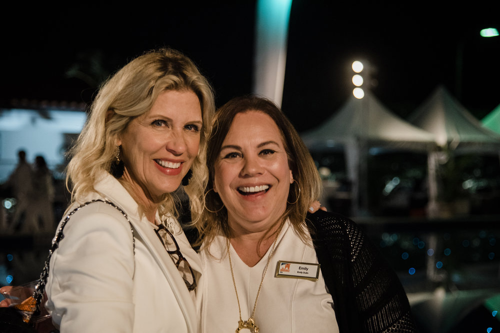 Leslie Munsell, founder of Beauty for Real Cosmetics, and Emily Dulin, executive director of Brooke USA