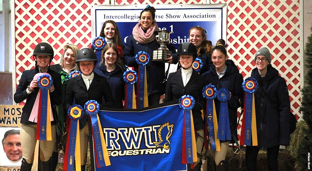 Roger Williams University nabbed the top team prize for Zone 1 with 38 points, The reserve champion Sacred Heart University team was a close second with 37 points. Photo by Allison Scott