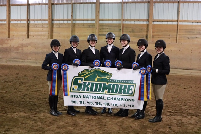 The eight-time national champion Skidmore College team won the Zone 2 championship and the reserve champion St Lawrence University team will also vie for the team national championship in Syracuse. Photo by Claire Carpenter