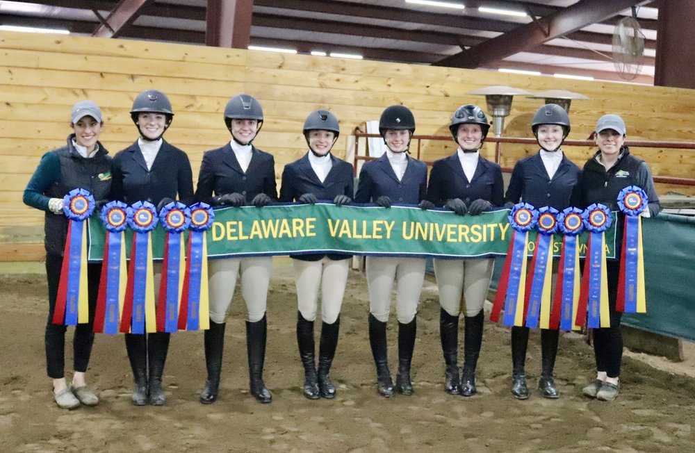 In Zone 3, Delaware Valley University earned the championship and will join reserve champion Penn State University for team competition at IHSA Nationals. Photo by Melinda Pazel