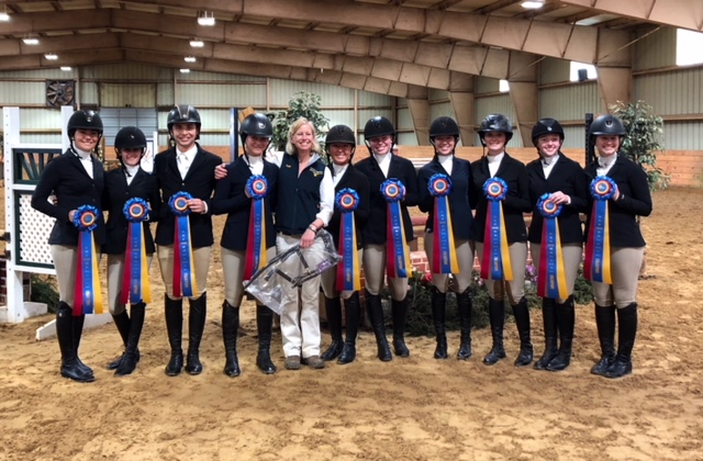 With 44 team points, Emory & Henry were victors in the Zone 4 championship. Sweet Briar took the reserve championship with 37 points and will join the team competition in Syracuse. Photo courtesy of Heather Richardson