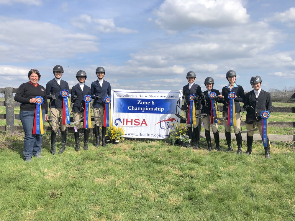 With 47 team points, Miami University of Ohio won the Zone 6 championship. The reserve champion Otterbein University team, with 38 points will also travel to Syracuse for team competition at IHSA Nationals. Photo by Beth Frey
