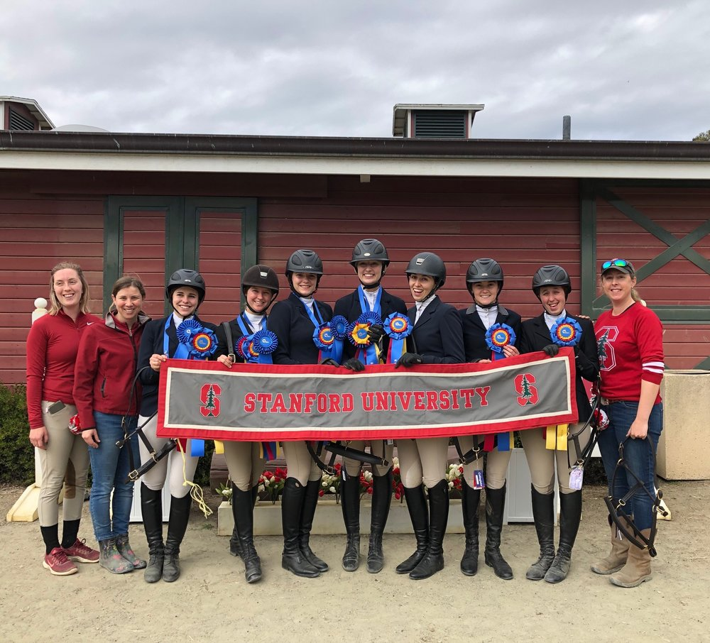 Stanford University took the Zone 8 championship with 51 points and will join reserve champion the University of Southern California for team competition at IHSA Nationals. Photo courtesy of Stanford University