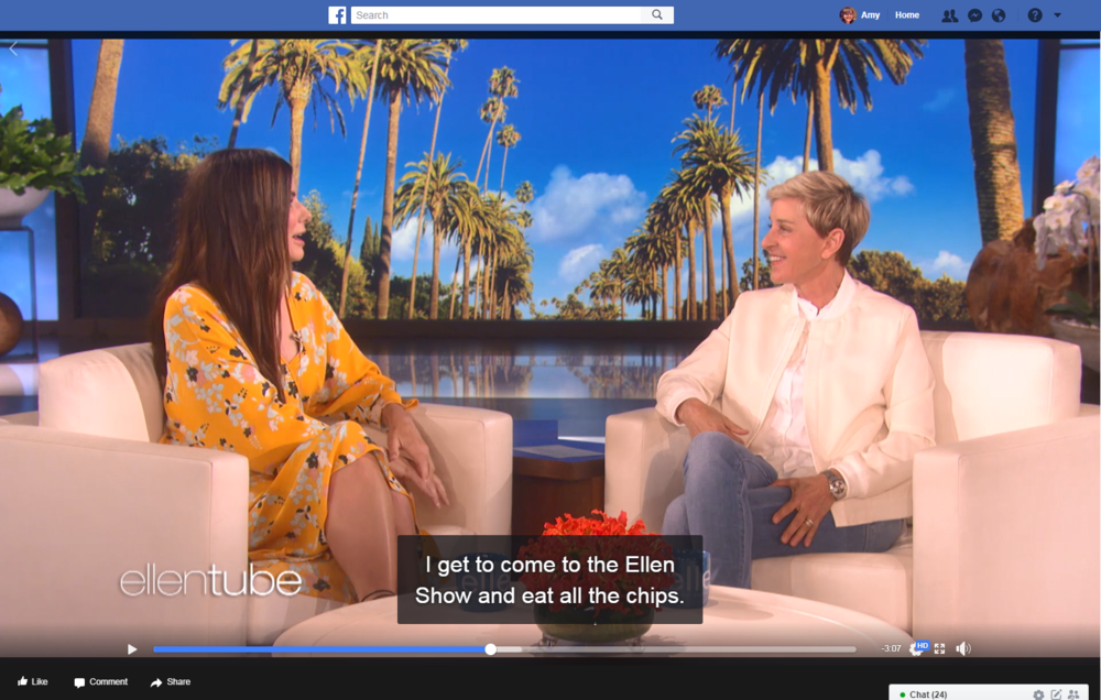 Video from  Ellen DeGeneres
